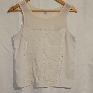 2/$20 American Eagle white sleeveless top